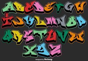 lettere dell'alfabeto dei graffiti di vettore