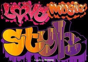 insieme di arte urbana dei graffiti di vettore