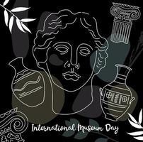 sfondo della giornata internazionale dei musei vettore
