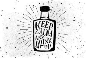 Sfondo di bevande disegnate a mano libera vettore