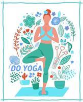 donna che esercita yoga