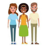 gruppo di personaggi dei cartoni animati di persone