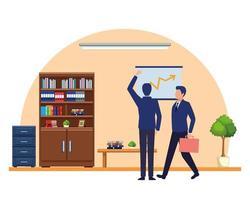 personaggio dei cartoni animati di avatar di uomini d'affari