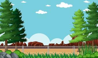 sfondo vuoto paesaggio del parco naturale vettore