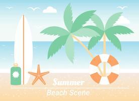 Sfondo di elementi Beach estate vettore