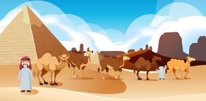 paesaggio desertico selvaggio alla scena diurna