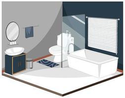 interno del bagno con mobili