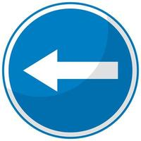 segnale stradale blu su sfondo bianco