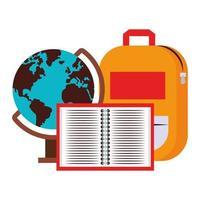 cartone animato torna alla composizione di educazione scolastica vettore