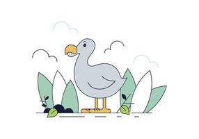 Dodo Bird Vector gratuito