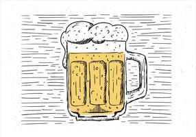 Illustrazione disegnata a mano libera della birra di vettore