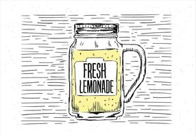 Illustrazione di limonata di vettore disegnato a mano libera