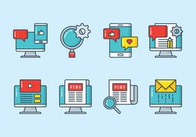 Icona di marketing digitale vettore
