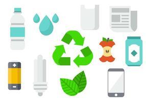 Vettore di sfondo del prodotto di riciclaggio gratuito