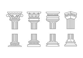 Icone colonna romana vettore