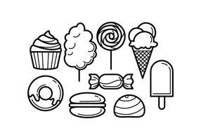 Vettore di icona di cibo dolce linea gratis