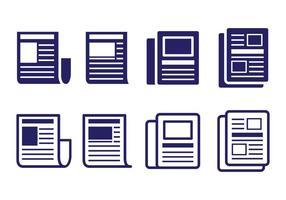 Comunicato stampa Set di icone