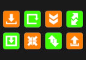 Set di icone di aggiornamento vettore