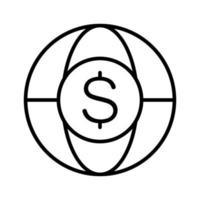 icona di valuta globale vettore