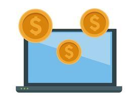 schermo del laptop e icona del dispositivo tecnologico vettore