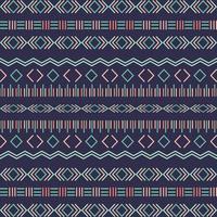 Modello senza cuciture tribale azteco con elementi geometrici vettore