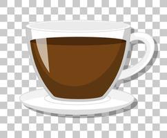 una tazza di caffè isolata su sfondo trasparente