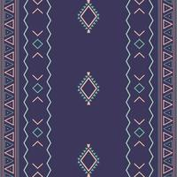 Modello senza cuciture tribale etnico azteco con forme geometriche vettore