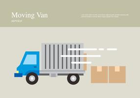 illustrazione di servizio di furgone in movimento