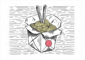 Illustrazione di cibo cinese di vettore disegnato a mano