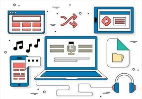 Illustrazione di vettore di Design piatto gratuito