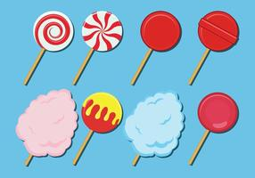 Icone dolci di vettore delle caramelle