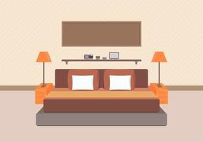 Vettore moderno della mobilia della camera da letto