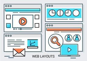 Sfondo vettoriale di layout web lineare gratuito