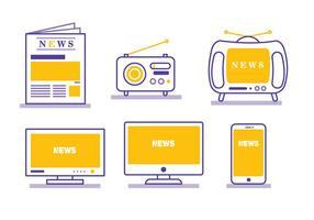 Comunicato stampa Media vettoriale