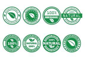 Timbro vettoriale biodegradabile
