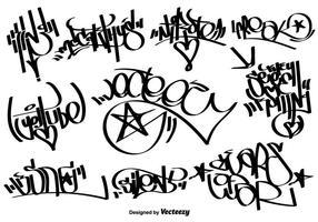 tag di graffiti vettoriali
