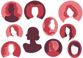 Vettori di silhouette donna