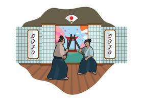 Illustrazione vettoriale di Dojo gratis