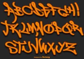 carattere vettoriale di graffiti