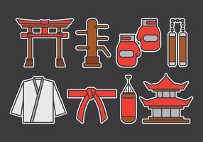 Set di icone vettoriali Dojo