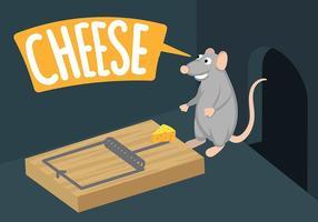Vettore dell'illustrazione della trappola del topo