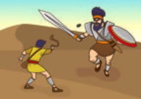 Illustrazione vettoriale di David e Golia