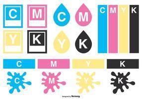 Collezione di elementi vettoriali CMYK