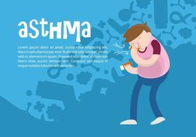 Sfondo di asma vettore