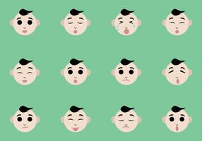 Vettori di espressione facciale del bambino