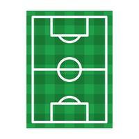 simbolo di vista superiore del campo di calcio isolato