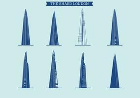 Il set vettoriale di Shard of London