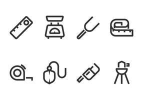 Icona linea strumento di misura vettore