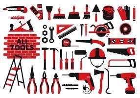 modello di strumenti di costruzione e riparazione vettore