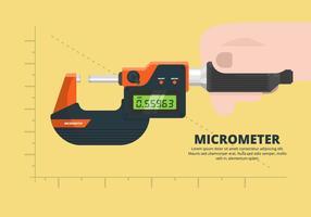 Illustrazione di micrometro vettore